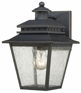 Quoizel CAN8407WB Carson Traditional Outdoor Lantern Style Bronze Wall Lighting Fixture