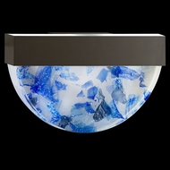 Fine Art Lamps 824550-12 Crystal Bakehouse Bronze Finish Blue Crystal Modern Wall Lighting Fixture
