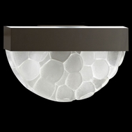 Fine Art Lamps 824550-14 Crystal Bakehouse Bronze Finish 17 Inch Wide Crystal River Stone Light Sconce