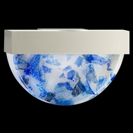 Fine Art Lamps 824550-22 Crystal Bakehouse 17 Inch Diameter Blue Crystal Lamp Sconce - Silver