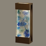 Fine Art Lamps 810950-12 Crystal Bakehouse Medium Blue Crystal 18 Inch Tall Bronze Wall Light Sconce
