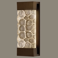 Fine Art Lamps 810950-14 Crystal Bakehouse Medium Bronze 18 Inch Tall Lighting Wall Sconce - River Stones