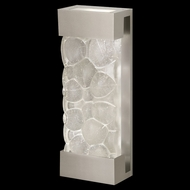 Fine Art Lamps 810950-24 Crystal Bakehouse Medium Silver Crystal River Stone 18 Inch Tall Wall Sconce Light