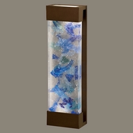 Fine Art Lamps 811050-12 Crystal Bakehouse 24 Inch Tall Large Bronze Blue Crystal Sconce Lighting