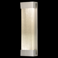 Fine Art Lamps 811050-23 Crystal Bakehouse Crystal River Stone Large Silver Wall Light Fixture