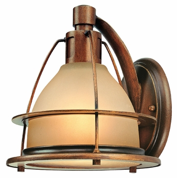Troy B2051SBZ Bristol Bay 8 Inch Tall 1 Lamp Nautical Light Sconce