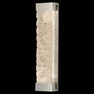 Fine Art Lamps 811150-24 Crystal Bakehouse Extra Large Silver 30 Inch Tall River Stone Lighting Wall Sconce