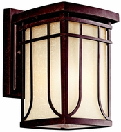 Kichler 49147AGZ Riverbank 10.5 Inch Tall Bronze Outdoor Sconce