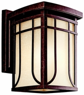 Kichler 49148AGZ Riverbank Aged Bronze 9 Inch Diameter Transitional Exterior Lighting Sconce