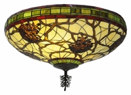 Meyda Tiffany 110734 Pinecone Dome 24 Inch Diameter Flush Mount Ceiling Light Fixture