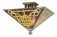 Meyda Tiffany 102128 Knotwork Mission Tiffany Ceiling Light Fixture - Semi Flush