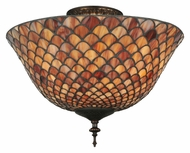 Meyda Tiffany 102692 Tiffany Fishscale Semi Flush Mount 11 Inch Tall Overhead Lighting Fixture