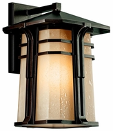 Kichler 49177 North Creek Bronze Lantern 18 Inch Tall Craftsman Outdoor Wall Light Fixture