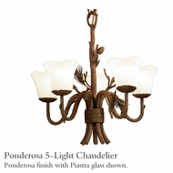 Kalco 5045 Ponderosa 5-Light Glass Chandelier