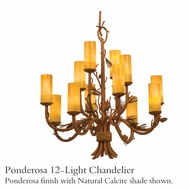 Kalco 5042 Ponderosa 12-Light Glass Chandelier