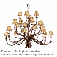 Kalco 5030 Ponderosa 20-Light Chandelier