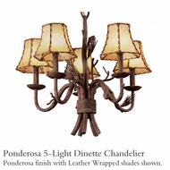 Kalco 5035 Ponderosa 5-Light Dinette Chandelier