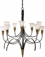 Landmark 08045-BKG Equinox 10 Light Rustic Chandelier