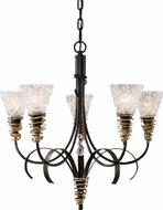 Landmark 08046-BKG Equinox 5 Light Rustic Chandelier