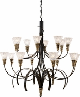 Landmark 08044-BKG Equinox 16 Light Rustic Chandelier