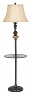 Kichler 74254 Clayton Bronze 60 Inch Tall Traditional Floor Lamp With Tray