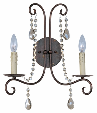 Maxim 22192UR Adriana Urban Rustic 2 Candle Sconce Lighting Fixture
