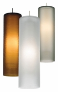 Tech Borrego Etched Glass Cylinder 10 Inch Tall Contemporary Mini Lighting Pendant