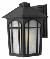 Hinkley 1984BK-LED Cedar Hill Outdoor 12 Inch Tall Black Finish LED Outdoor Wall Sconce
