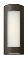 Hinkley 2027BZ Solara Tall Thin Contemporary Fluorescent Exterior Wall Sconce in Bronze