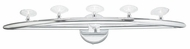 PLC 6053-PC Camber 5 Lite Contemporary Vanity Light in Polished Chrome