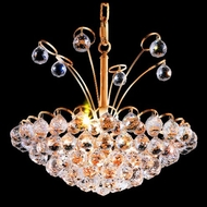 Elegant 2001D18G-RC Godiva 8 Light Gold Ceiling Light Pendant