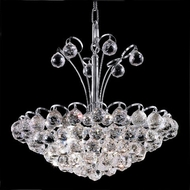 Elegant 2001D18C-RC Godiva Chrome 17  Crystal Hanging Pendant Light