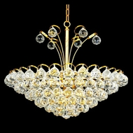Elegant 2001D22G-RC Godiva Crystal 8-Light Gold Hanging Lamp