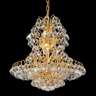 Elegant 2908D24G-RC Sirius Small Crystal Hanging Pendant Light