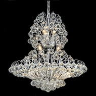 Elegant 2908D24C-RC Sirius 28  Small Chrome Lighting Pendant Crystal