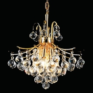 Elegant 8000D16G-RC Toureg Gold Small Crystal Ceiling Light Pendant