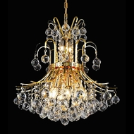 Elegant 8001D19G-RC Toureg 10 Light Gold Crystal Hanging Light Fixture