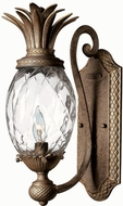 Hinkley 4140PZ Pearl Plantation Single Light Pineapple Wall Sconce