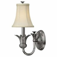 Hinkley 4880PL Silvery Plantation Single Light Wall Sconce