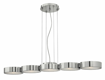 Fredrick Ramond 41435PAL Broadway Medium Modern 5 Light Linear Chandelier/Kitchen Island Lighting