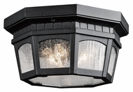 Kichler 9538BKT Courtyard Flush Mount Textured Black 12 Inch Diameter Overhead Lighting