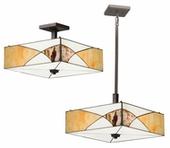 Kichler 65374 Elias Tiffany Art Glass 16 Inch Wide Combination Ceiling Light & Pendant