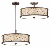 Kichler 65381 Blythe Combination Olde Bronze 22 Inch Diameter Pendant & Ceiling Light