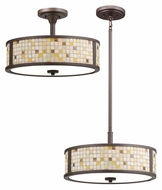 Kichler 65382 Blythe Olde Bronze 16 Inch Diameter Small Combination Pendant & Semi Flush Lighting