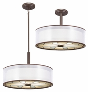 Kichler 65387 Louisa 22 Inch Diameter Olde Bronze Combination Semi Flush Lighting & Pendant