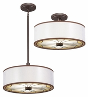 Kichler 65388 Louisa Tiffany 18 Inch Diameter Combination Ceiling Light & Pendant