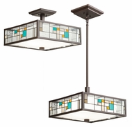 Kichler 65393 Caywood Combination Tiffany 16 Inch Wide Ceiling Light & Pendant