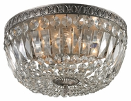 ELK 11481/4 Flushmounts 15 Inch Diameter Sunset Silver Crystal Ceiling Light