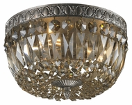 ELK 11490/3 Flushmounts Crystal 12 Inch Diameter Sunset Silver Ceiling Light