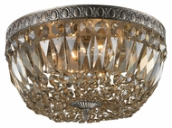 ELK 11491/4 Flushmounts 15 Inch Diameter Sunset Silver Ceiling Lamp - Crystal